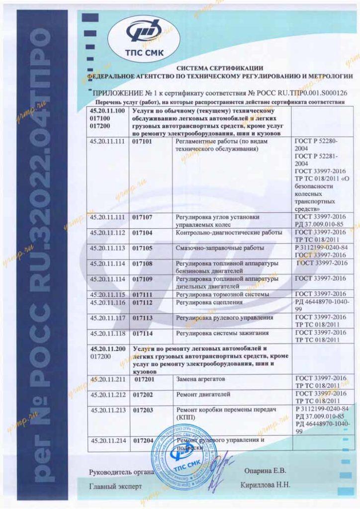 сертификат ЯМЗ
