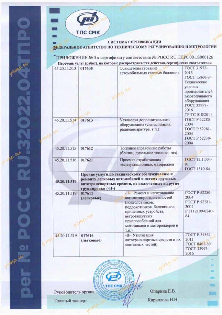 сертификат ремонт ТМЗ