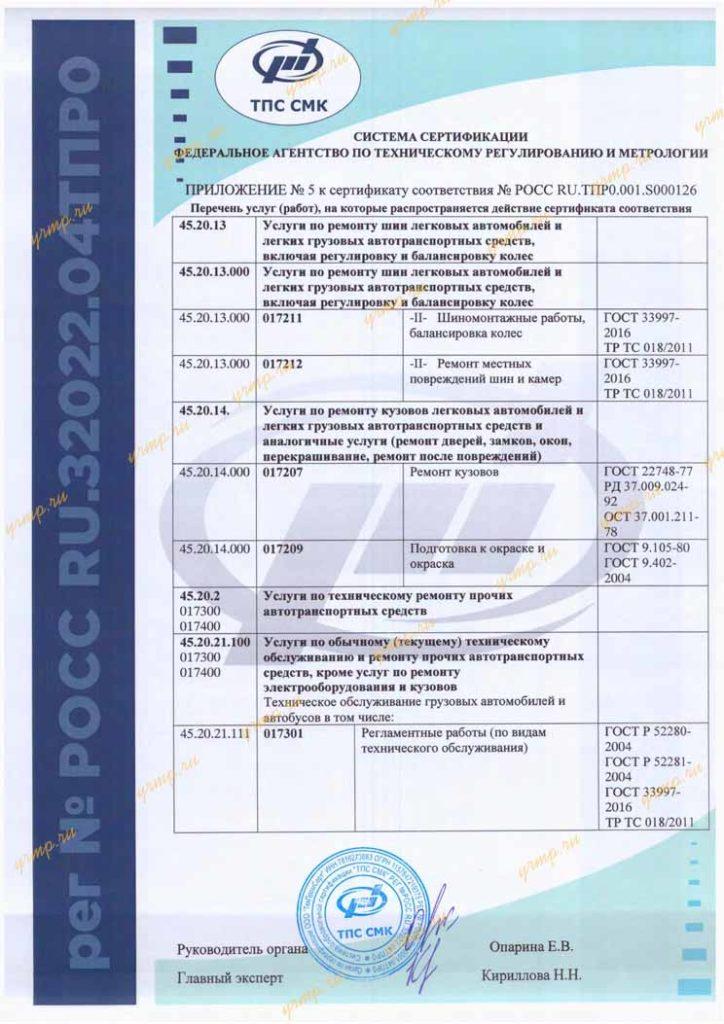 сертификат ремонт ЯЗДА